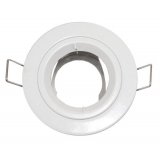 Coupelle Fixe Ronde CLAREO IP44 Pour Ampoule LED GU5.3