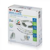 Kit Ruban LED (+driver) RVB 5 mètres V-TAC 10W/m IP20 VT-5050